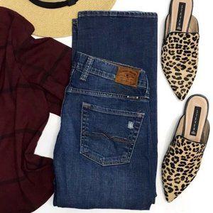 LUCKY Sienna Tomboy Mid-Rise Boyfriend Dark Jeans